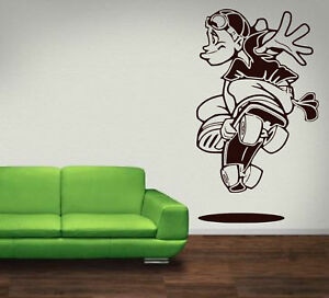 Crazy Skater Boy Kids / Teenager Room Wall Stickers Vinyl Decal. High Quality UK