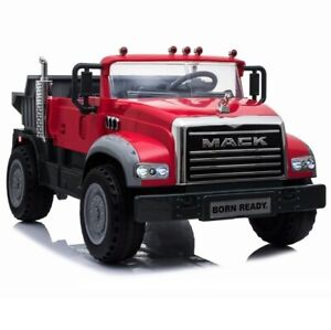 Licensed Mack Dump Truck Kids ride on car - RED
