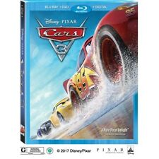 Cars 3 (BLU-RAY + DVD + DIGITAL)  BRAND NEW + FREE SHIPPING