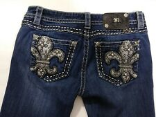 Miss Me Women's Size 28 Signature Rise Boot Cut Bling Bling Jeans (A5)
