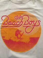 Beach Boys 2013 Concert Tshirt Sz Medium Surfer Tour Beige New Band Tee