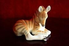 Cute Vintage Porcelain Zebra Figurine Russian USSR Lomonosov LFZ