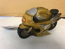 """Ceramic Wheelies Motorcycle Coin Bank Approximately 7"""" x 5"""""""