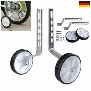 "2-tlg 12""-20"" Stützräder Kinderfahrrad 12-20 Zoll Stützrad Kinder Fahrrad Weiß"