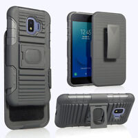 Hybrid Holster Belt Clip Cover Stand Hard Armor Case For Samsung Galaxy J2 Core