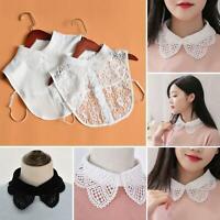 Women Lace Fake False Collar Detachable Lapel Shirt Blouse Choker Necklace Dress