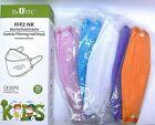 Premium Kinder FFP2 Masken bunt farbig Atemschutzmaske Mundschutz, CE0370, Fisch