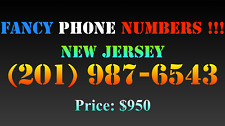 New listing Fancy Phone Numbers ! New Jersey (201) 987-6543