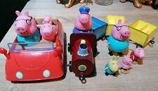 Peppa pig bundle Train And Family Car Inc Figures Milkshake Tv