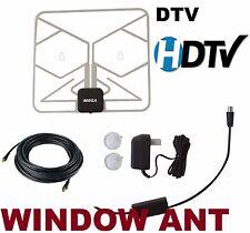 PAPER THIN HD TV DIGITAL ANTENNA W/ DTV Booster CAMPER RV BOAT WINDOW HDTV
