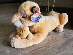 """Disney The Lion King Sarabi (21"""") and Baby Simba (5.5"""") Character Plush Vintage"""