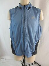 Adidas ClimaProof Lightweight Vented Zip Front Vest - Blue/Gray - Men's Small
