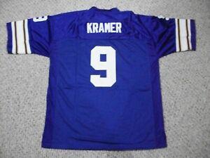TOMMY KRAMER Unsigned Custom Minnesota Purple Sewn New Football Jersey Sze S-3XL