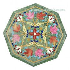 "15"" Marble side Table Top Pietra dura Inlay Handmade Home Decor"