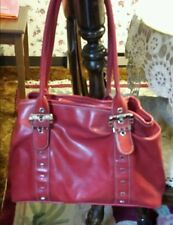 """NINE WEST ♡   RED PURSE ♡ WITH SNAP SHUT TOP  ♡ 10"""" X 14"""""""