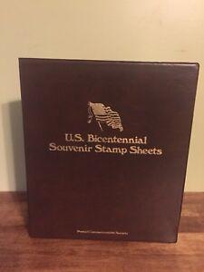 U.S. Bicentennial Souvenir Stamp Sheets 1976 Postal Commemorative Society Album