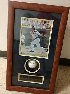 Paul Molitor #4 Autographed Baseball & Photographed HOF Framed Shadowbox