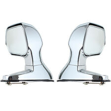 Silver Car Vehicle Bonnet Mirrors Hoods Covers Blind Wide Angle Rearview Mirror