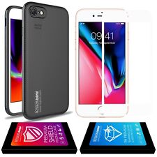 iPhone 8 Plus Cover Case Noziroh Hybrid Carbon Shockproof + Vetro Temperato Full