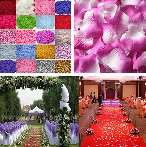 100~1000pcs Silk Rose Flower Petals for Wedding Party Table Confetti Decorations