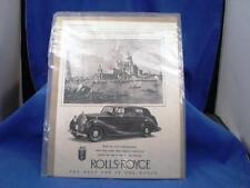 Original Vintage Rolls Royce Ad: The Autocar, Dec. 1950