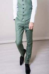 Marc Darcy Sid Green Check Trousers