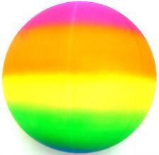 "Giant Jumbo 18"" Neon Rainbow Rubber Playground Play Beach Sport Ball Football"
