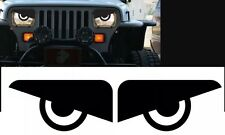 87-96 Jeep Wrangler YJ Cherokee Angry Eyes Mad Headlight Decal Sticker (1