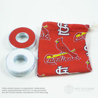 8 VVashers™ w/ St. Louis Cardinals Red Fabric Bag| Washer Toss / Washer Game