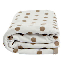Lil Fraser Collection Jamie Baby Wrap White and Taupe Cotton Swaddle