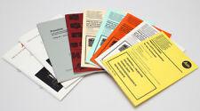 9x Leica Leitz Preislisten zum Gesamtkatalog ab 1980