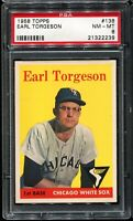 1958 Topps Baseball #138  EARL TORGESON Chicago White Sox PSA 8 NM-MT