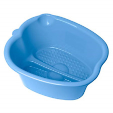 Large Blue Foot Bath Spa Tub Plastic Pedicure Spa and Massager for Soaking Feet