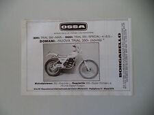 advertising Pubblicità 1979 MOTO OSSA NUOVA TRIAL 350