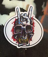 Devil Horns Rock Skull sticker - Laptop, Tablet, Art, Metal