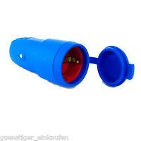AS Schwabe Gummi Kupplung IP44 BLAU 230V/ 16A 2,5mm² Schukokupplung Spritzwasser