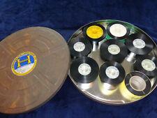 9 x 35mm Cinema Film Trailers in Old Kodak film can