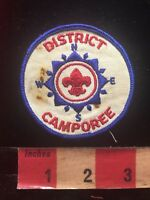 Vtg AS-IS STAINED Boy Scout DIRECTIONS COMPASS DISTRICT CAMPOREE BSA Patch 84V9