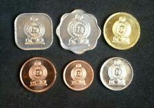 SRI LANKA Set 6 COINS 5 10 25 50 CENTS + 1 RUPEE 1991 - 2006 BU UNC