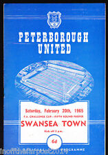 1964/65 PETERBOROUGH UNITED V SWANSEA TOWN 20-02-1965 FA Cup 5th Round