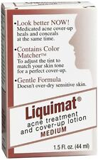 Liquimat Acne Treatment and Cover-Up Lotion Medium 1.50 oz (Pack of 2)