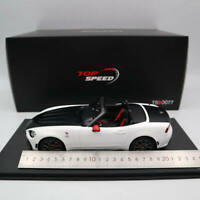 1:18 TOP Speed Abarth 124 Spider Turini 1975 TS0077 Limited Collection Car White