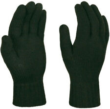 Regatta Thermal Winter Gloves Green Knitted Ribber Cuff Mens Womens