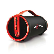 Axess SPBT1033RD Rd Portable Bluetooth Speakers 2.1 Hifi Loud Speaker W/4 In Sub