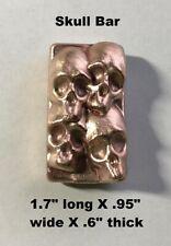 4+ oz Hand Poured Skull Bar - 999 Fine - Art Collectible Bullion