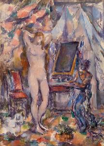 The Toilette by Paul Cézanne 60cm x 43cm Art Paper Print