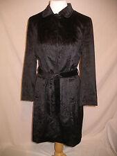 ETCETERA Carlisle Unique Black Textured Dress Trench Coat - 4 - EUC