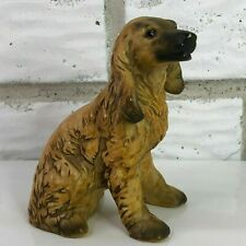 Vintage Small Uccti Uctci Japan Brown Afghan Dog Figurine Small 4.5″ Tall