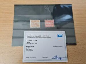 Berlin 112 - 113 postfrisch mit Befund Schlegel ohne Signatur
