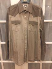 Drysdales Classic Western Shirt XL Vintage Brown  Rodeo Cowboy Ranch Free Ship